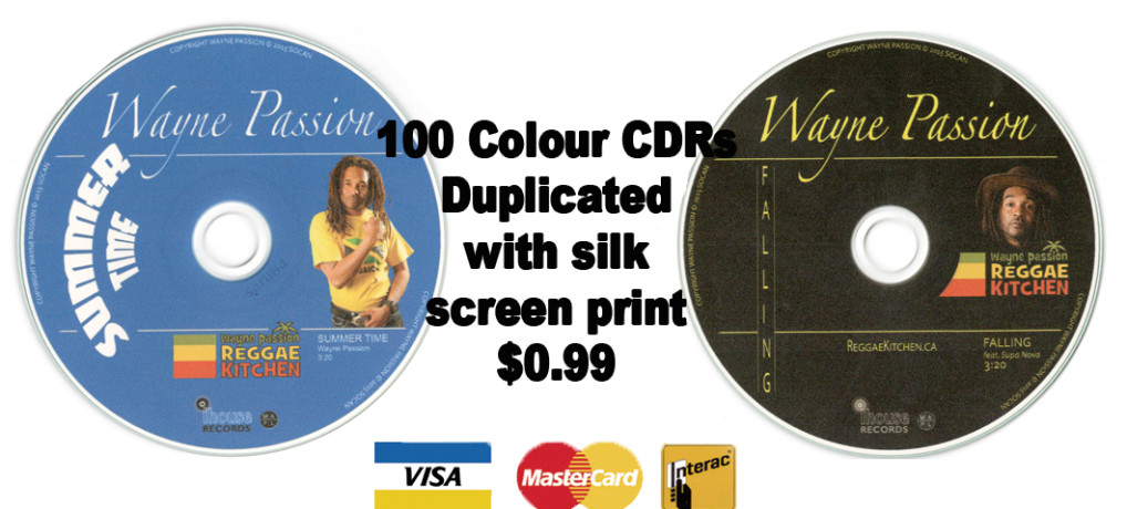 100 Colour CDRs Duplicated with silk screen print $0.99