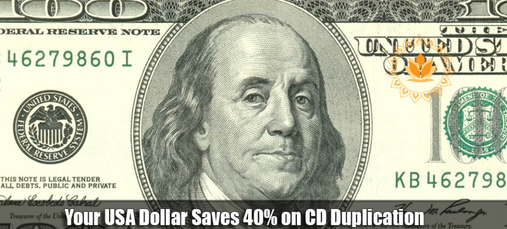 Your USA Dollar Saves 40% on CD Duplication