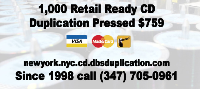 1,000 Retail Ready CD Duplication Pressed $759