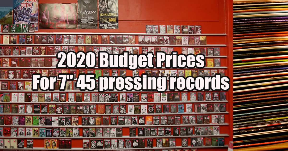 2020 USA Prices For 7″ 45 pressing records