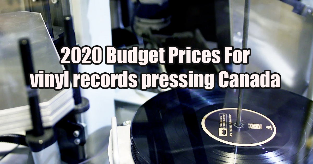2020 Budget Prices vinyl records pressing USA $